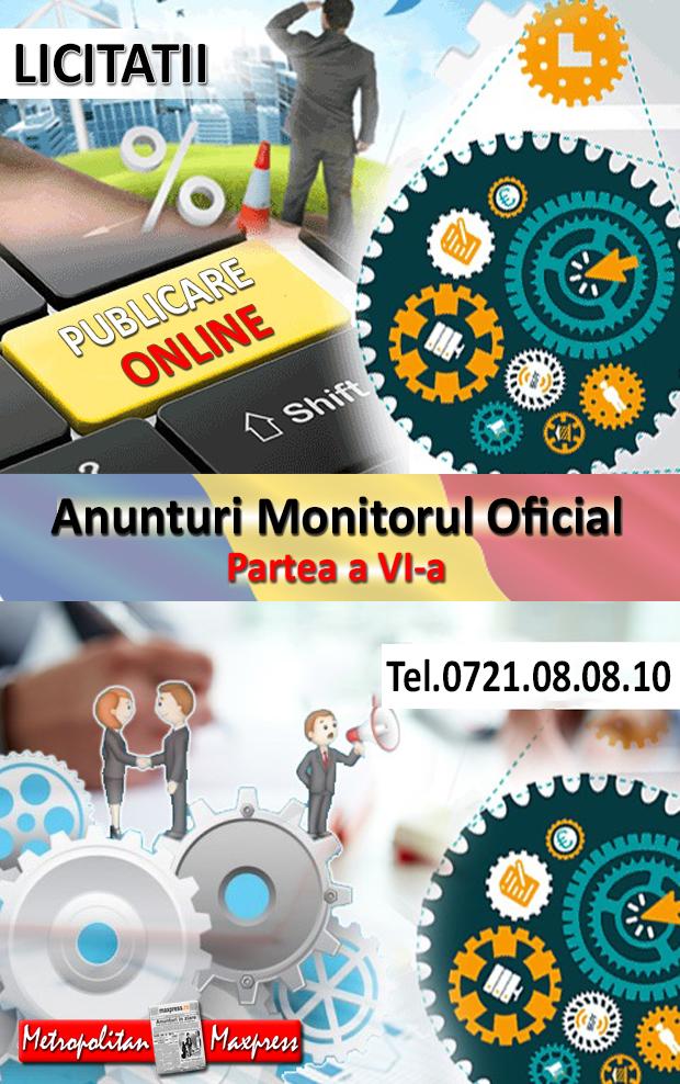Anunturi Monitorul Oficial